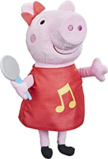 Peppa Pig Oink-Along Songs Peppa Singing Plush Doll with Sparkly Red Dress and Bow, Sings 3 Songs Inspired by the TV Serie...