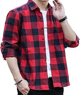 チェックシャツ メンズ 長袖 ネルシャツ カジュアル 大きいサイズ シルエット フランネルシャツ