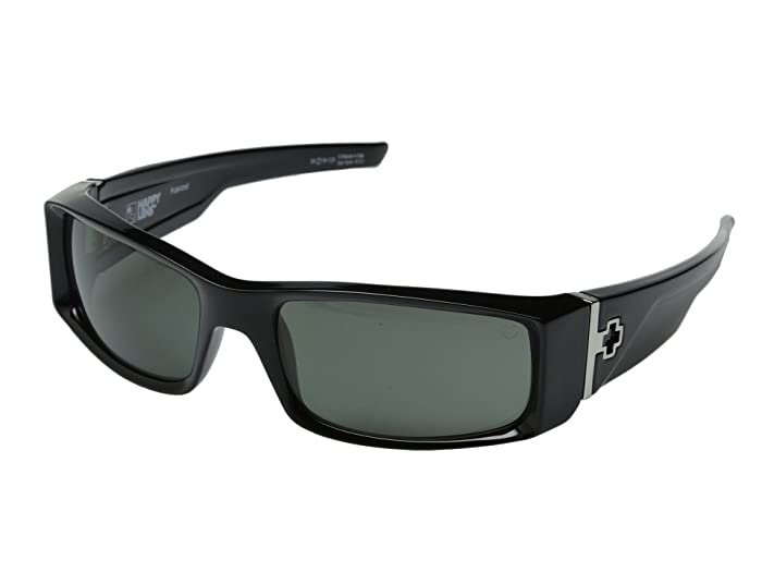 Spy Optic Hielo (Black/Happy Gray Green Polar) Plastic Frame Fashion Sunglasses