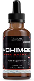 Ultimate Nutrition Maximum Strength Yohimbe Liquid Extract - Natural Libido and Testosterone Booster for Fat Burning Weigh...
