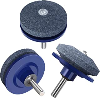 JAHUL Lawn Mower Blade Sharpener for Power Drill Hand Drill - 3 Pack