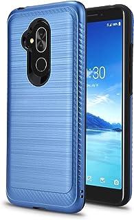 Alcatel 7 对开式保护套 (6062W) 2018 保护套,NewFrontier 减震弹性 TPU 橡胶软硅胶全身保护套,适用于 Alcatel 7 Filio 2018ALCATEL 7 (2018) VGC 蓝色