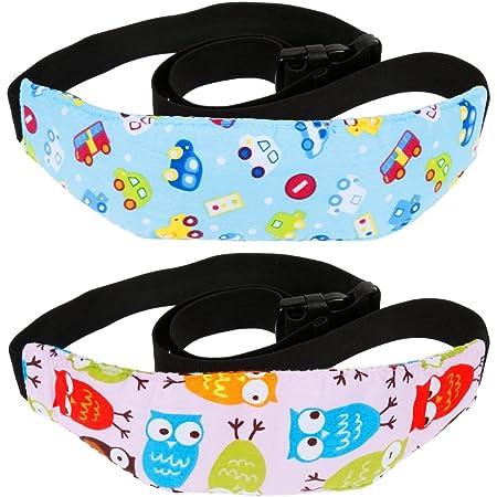 Rovtop 2 Stk Einstellbare Kindersitz Befestigung Kopfband Autositz Schlafhaar Hilfe Kopfstütze Schlaf Kopfstützhalter Gürtel Blau Und Rosa Baby