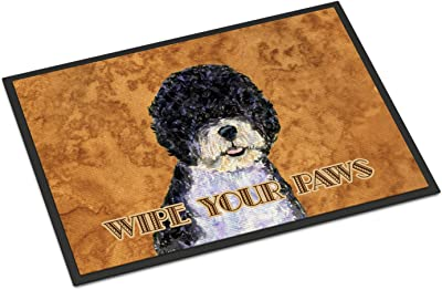 """Caroline's Treasures Portuguese Water Dog Wipe Your Paws Indoor or Outdoor Mat, Multicolor, 24"""" x 36"""""""