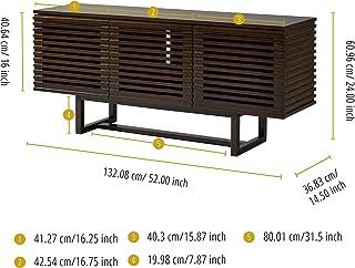 Versanora THF-00007 Aparador de Madera para Mueble de TV Noyer/Métal Brun Foncé 132.08x132.08x60.96
