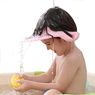Baby Shower Cap Bath Visor wash Shampoo hat Prevent Water from Entering The Eyes and Ears Bathing tub Head Hair Rinser Shield Protection Kids and Toddler …