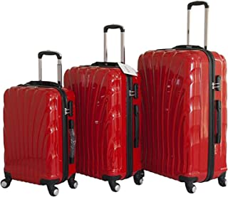 Discovery My Bag Chip Tracker Luggage Trolley Bag, Red