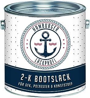 Hamburger Lack-Profi 2K Bootslack GLÄNZEND für GFK, Kunststoff & Polyester Weiß RAL 9010 Yachtlack Yachtfarbe Bootsfarbe