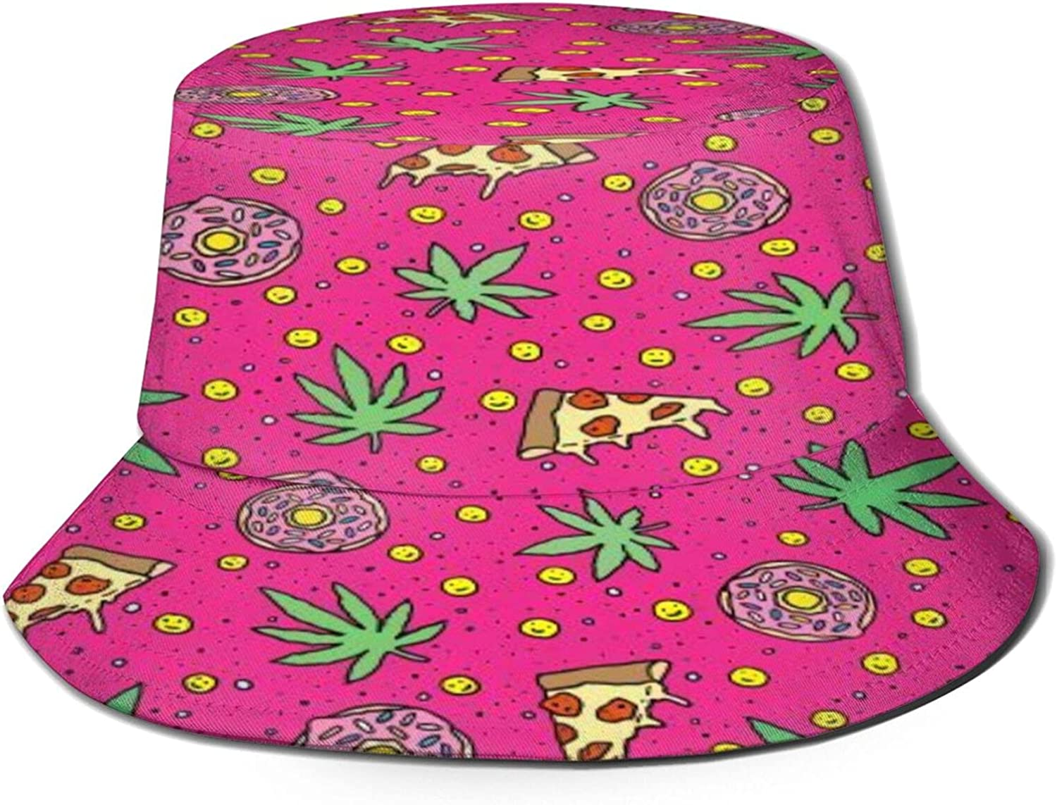 Pizza Los Angeles Mall and Cannabis Bucket Hat Summer Limited price Fis Sun Packable Unisex