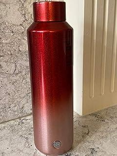 Starbucks 2019 Holiday Season Glitter Gradient RED Double Walled Stainless Steel Water Bottle (20 OZ)
