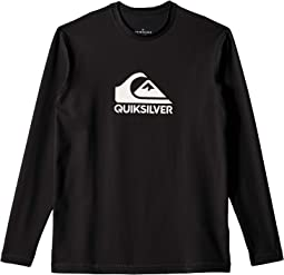 Solid Streak Long Sleeve Surf Tee (Big Kids)