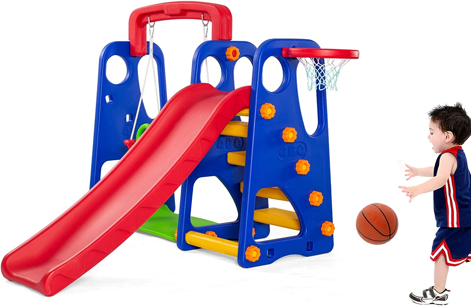 Sararoom 3 当店限定販売 in 1 Toddler 人気の定番 Slide and Climber Set Swing Kids