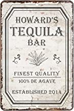 Pattern Pop Personalized Vintage Distressed Look Tequila Bar Metal Room Sign