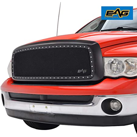 Exterior Accessories EAG Black Rivet Mesh Grille Grill Fit for 03 ...