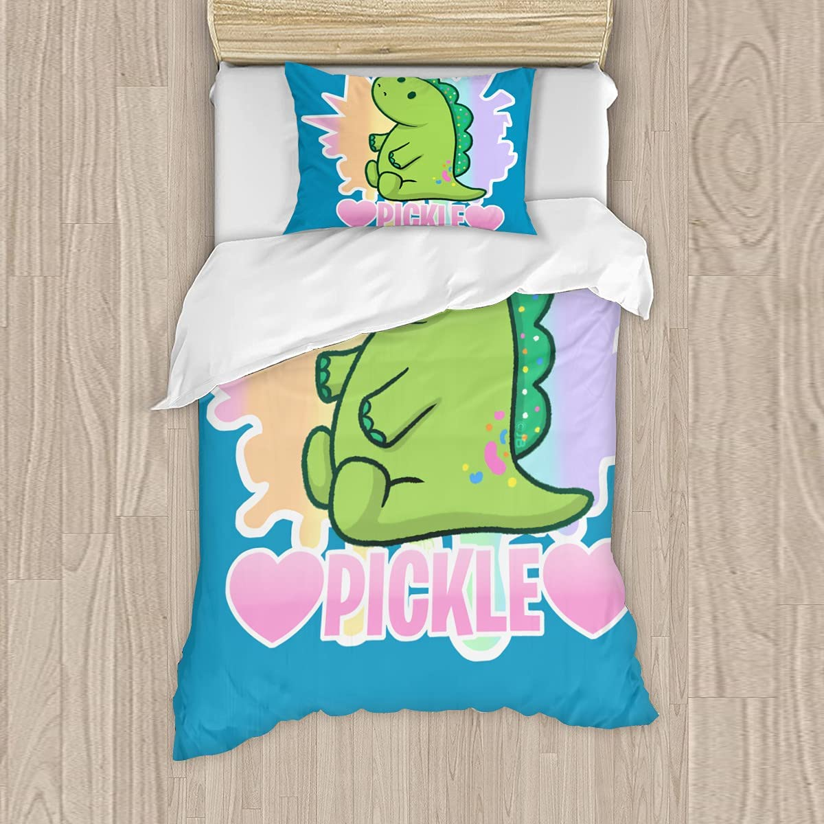 Special Campaign Love Pickle Bedding Luxury goods Set Comforter Duvet for Cover Colorful