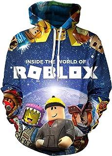 Top Hoodie Jacket Roblox Sweatshirt Outwear Boys Hooded Zipper Coat Kids
