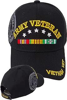 U.S. Army Vietnam Veteran Baseball Cap Black Hat