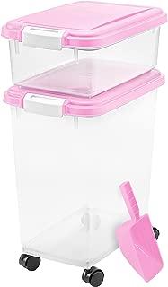 IRIS USA, Inc. 3- Piece Airtight Pet Food Storage Container Combo, Blue Moon