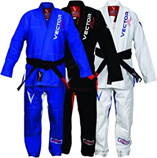 Vector Brazilian Jiu Jitsu BJJ Gi Kimono Ultra Strong Flamma Series Pearl Weave Preshrunk Fabric with Free Belt