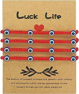اليدوية عيون شرير سوار قابل للتعديل سلسلة حمراء التعويذة محظوظ أساور نازر التعويذة للعائلة النساء الرجال الفتيات