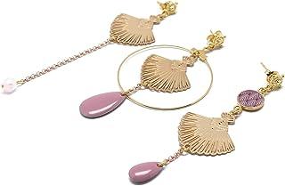 GATSBY orecchini di perle in resina 24 carati malva lilla duo o trio regali personalizzati regalo di natale amici cerimoni...