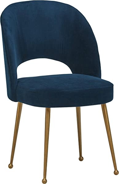 Rivet Dining Room Kitchen Chair Open Back 33 Inch Height Navy Blue