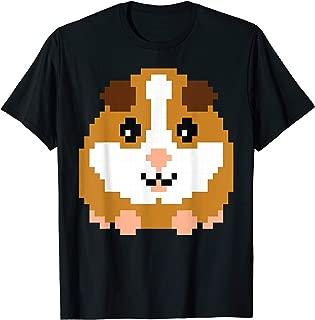 Guinea Pig Cavy 8 Bit Pixel Shirt Gift Kids Gamer Clothes