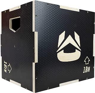 Ultra Fitness Gear 3 in 1 Anti-Slip Wood Plyo Box for Jump, Crossfit, MMA Training. Plyometrics. Sizes: 30/24/20, 24/20/16, 20/18/16, or 16/14/12