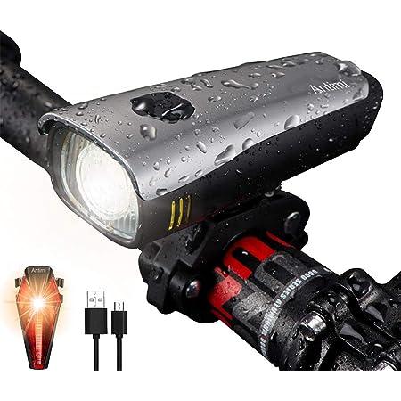LED Fahrradlicht Set Fahrradbeleuchtung Scheinwerfer Rücklicht Wasserdicht USB