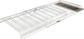 """Deflecto Furniture Deflector Air Vent Extender, Linking Clips and Tape Included, For Use with Floor Registers Up to 11"""" Wi..."""