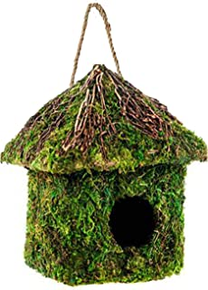 LIVEONCE Classic hut Moss House in Coir (Only Bird House No Moss and Thread) and Decoration -Color -Brown
