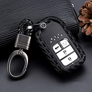 red TM 3 4 Buttons TPU Carbon Fiber Style Smart keyless Remote Key Fob case Cover for Honda Civic Accord Pilot Insight Fit Clarity Royalfox