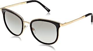 MICHAEL KORS Women's Adrianna I 110011 54 Sunglasses, Black/Gold/Greygradient