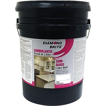 Diamond Brite Paint 21050 5-Gallon Semi Gloss Latex Paint High Hiding White