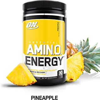 OPTIMUM NUTRITION ESSENTIAL AMINO ENERGY, Pineapple, Keto Friendly Preworkout and Essential Amino Acids with Green Tea and Green Coffee Extract, 9.5 Ounce (Pack of 1)