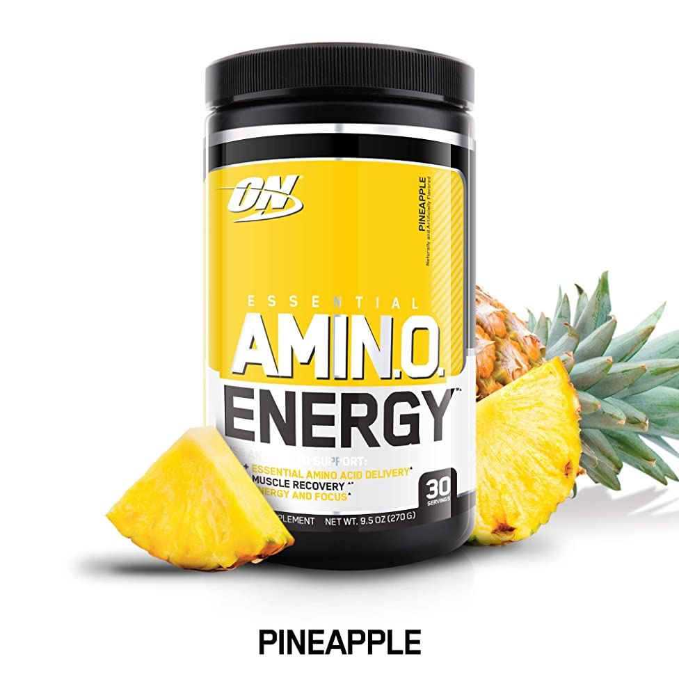 OPTIMUM NUTRITION ESSENTIAL AMINO ENERGY, Pineapple, Keto Friendly Preworkout and Essential Amino Acids with Green Tea and Green Coffee Extract, 30 Servings