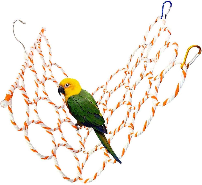 Bird 4 years Ranking integrated 1st place warranty Hemp Rope Net Swing Parrot Ladder Climbing Hammo Perch