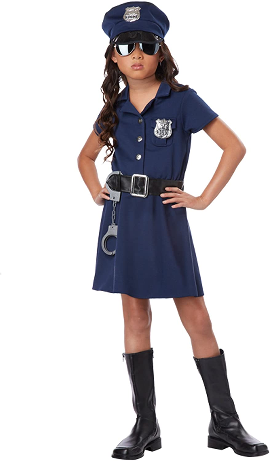 Girls Limited price sale Police Officer 8-10 Medium Costume outlet