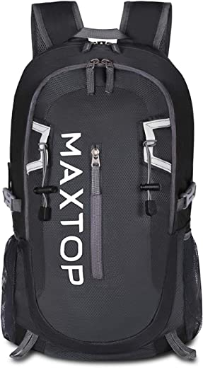 MAXTOP Hiking Backpack 40L Lightweight Packable for Traveling Camping Waterproof Foldable Outdoor Travel Daypack