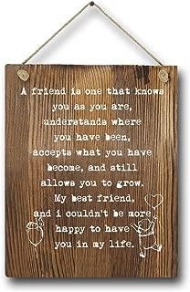 Best Friend Birthday Gift Winnie The Pooh Rustic Wood Wall art decor, 8