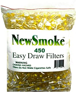 NEW SMOKE 450 Disposable Cigarette Filters Bulk Economy Pack 50% More Value Total 450 filters