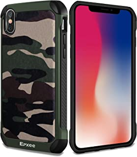 Epxee iPhone X Case, iPhone XS Case, Protective Silicone Bumper Case For Apple iPhone X/XS Cover - Camouflage