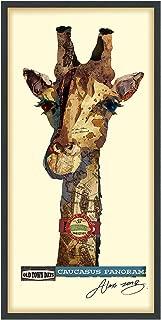 Empire Art Direct Giraffe Dimensional Collage Handmade by Alex Zeng Framed Graphic Animal Wall Art 25