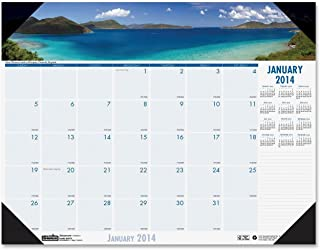 House of Doolittle Earthscapes Coastlines Compact Desk Pad Calendar 12 Months January 2014 to December 2014, 18.5 x 13 Inches, Recycled (HOD1786)