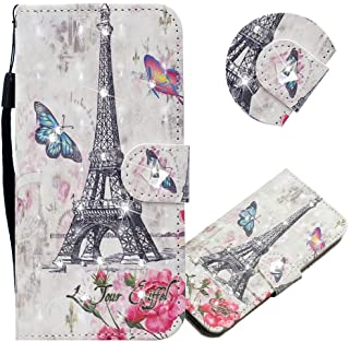 EMAXELER Redmi Note 8 Case 3D Creative Pattern PU Leather Wallet Diamond Case Bookstyle Flip Stand Card Holder غطاء واقي م...