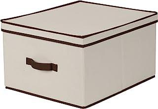 صندوق تخزين من القماش الطبيعي من هاوس هولد اسنشالز Jumbo 515