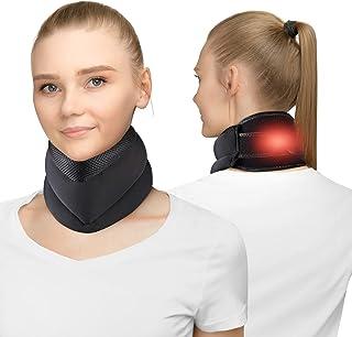 یقه گرم شده گردنی برای تسکین درد گردن ، مهاربند پشتیبانی کننده گردن برای درد و پشتیبانی از گردن با 4 زمان و دما قابل تنظیم ، حرارت درمانی برای کاهش درد ستون فقرات و فشار