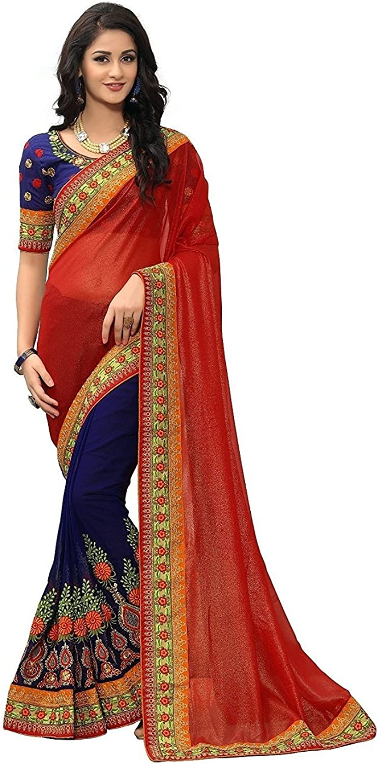 Magneitta Women's Party Wear Bollywood Designer Saree With Blouse Piece