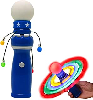 Windy City Novelties Hand-Held LED Light Up Galaxy Spinner with Flashing LED Lights