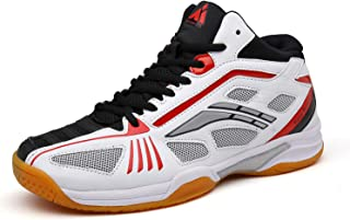 Mishansha Mens Athletic Court Squash Volleyball Badminton Tennis Shoes Indoor Outdoor Non Slip Sneakers